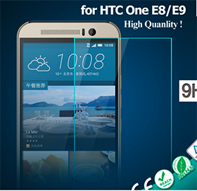 2.5 D Anti-shock Tempered Glass Screen Protector for HTC one E8/E9