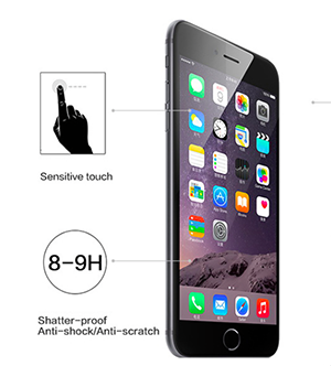 0.33mm Tempered Glass Screen Protector for iPhone 6 Plus